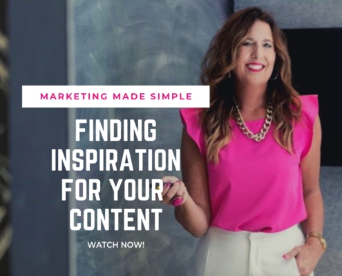 marketing made simple - finding inspiration for your content