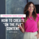 marketing made simple - how to create on the fly content