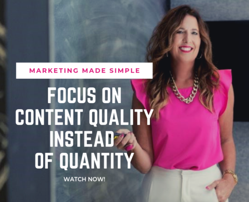 marketing made simple - quality over quantitiy